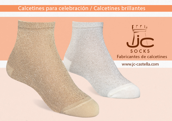 Calcetines niña brillantes