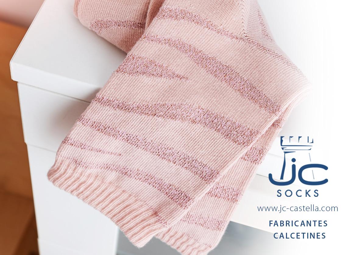 Calcetines cortos mujer brillantes fabricados en Barcelona