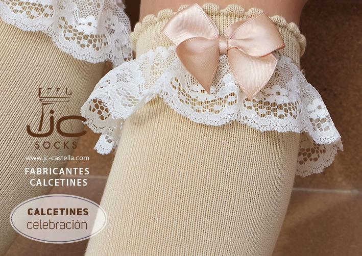 Calcetines para celebraciones con lazo