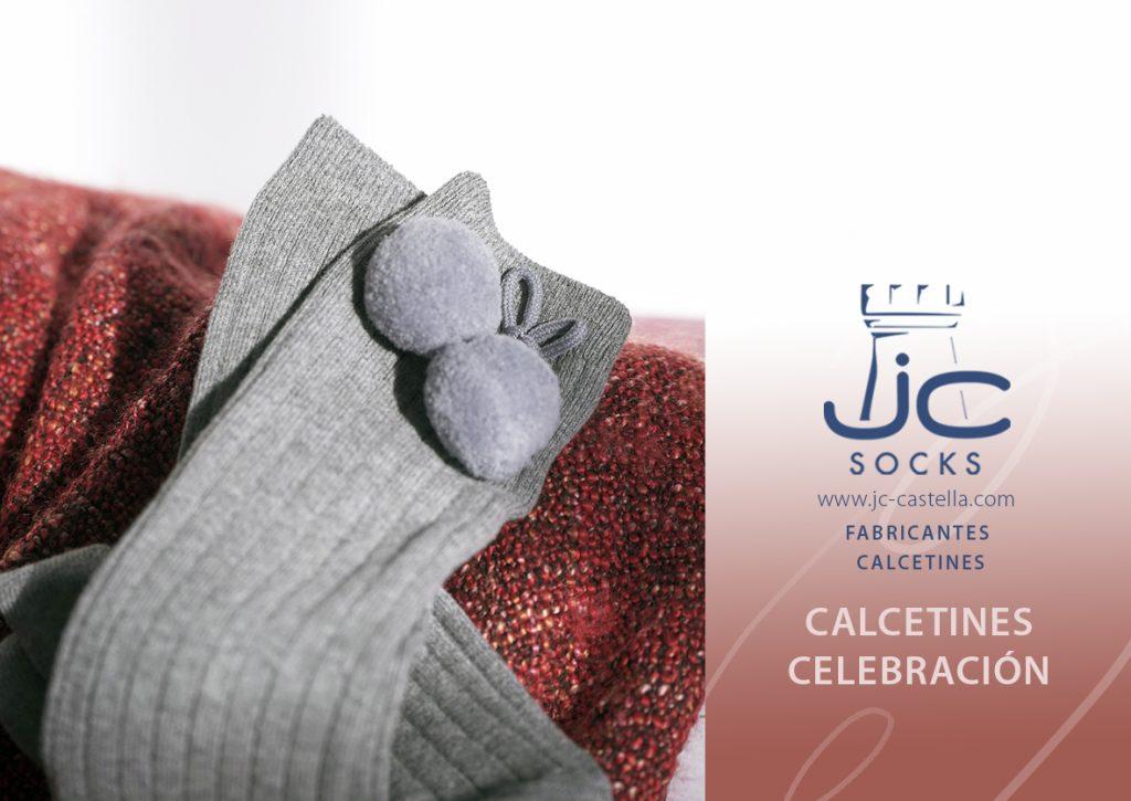 Calcetines altos con borlas